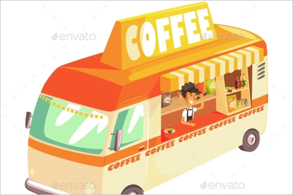 Coffee Truck Illustration Vector