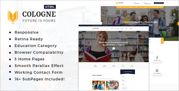 College Educational HTML5 Template
