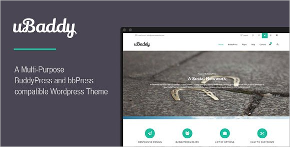Colorful BuddyPress WordPress Theme