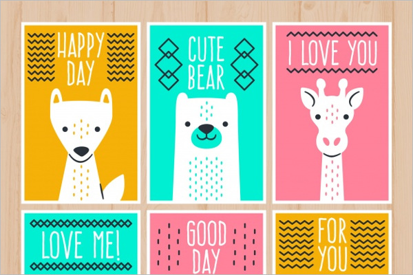 Colorful Dog Cartoon Template