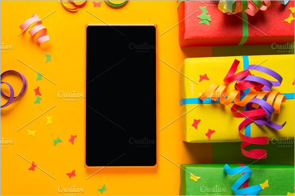 Colorful Gift Box Design Template