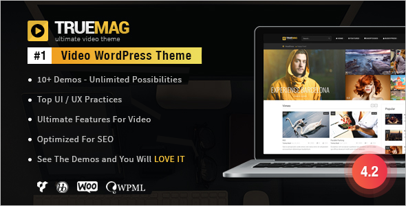 Colorful Video WordPress Theme