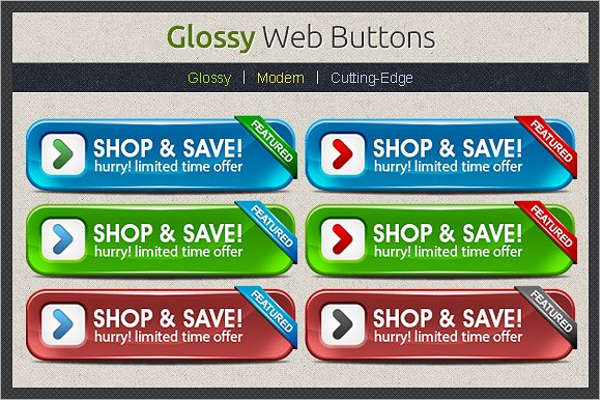Colourful Web Button Template