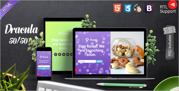 Coming Soon Boostrap HTML Template