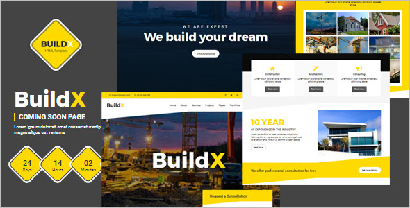Coming Soon Construction HTML Template