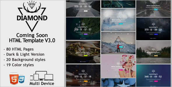 Coming Soon Diamond HTML Template
