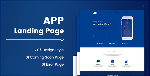 Coming Soon HTML App Landing Page Template