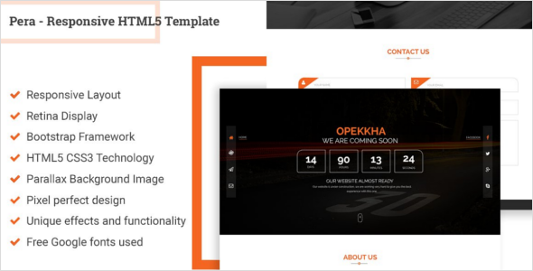 Coming Soon HTML Website Theme
