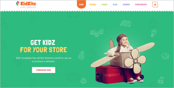 Coming Soon Kids Store HTML Template