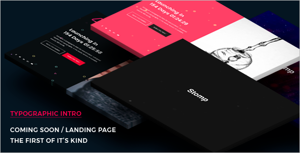 Coming Soon Landing Page HTML Template