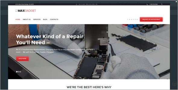 Computer Maintenance & Electronics Repair WordPress Theme