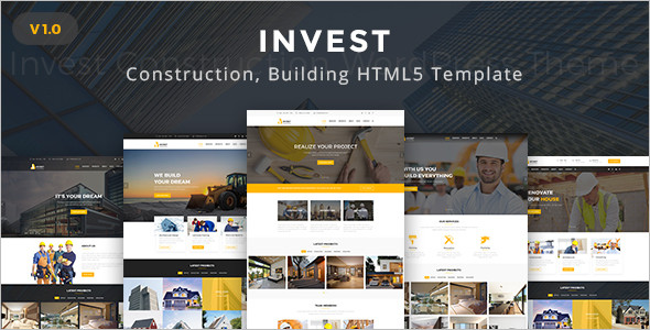 Construction Architecture HTML5 Template