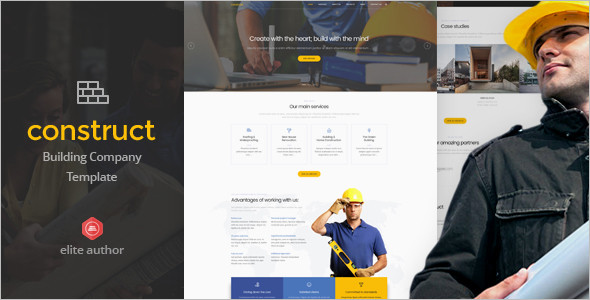 Construction & Building Bootstrap Template
