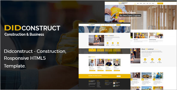 Construction & Building HTML5 & CSS3 Template