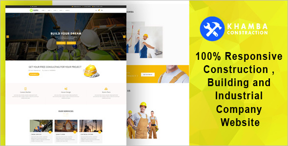 Construction Building HTML5 Website Template
