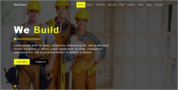 Construction Company HTML5 Template