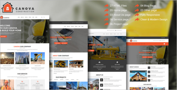 Construction Contractor HTML Template