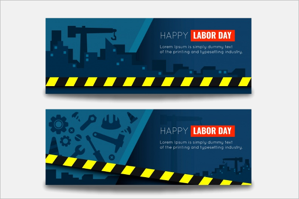 Construction Labor Day Banner Template