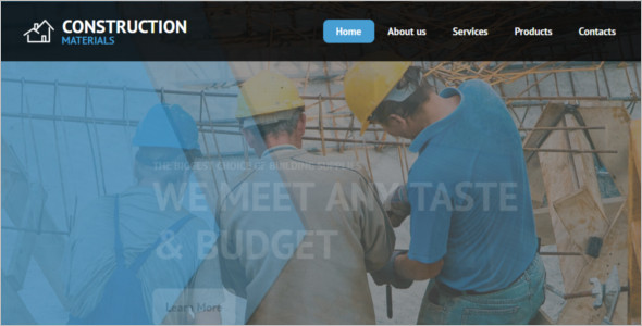 Construction Material HTML Template