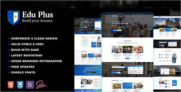 Corporate Education HTML5 Template
