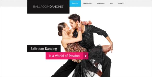 Couple Dance School WordPress Theme