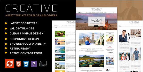 Creative Blog HTML Template