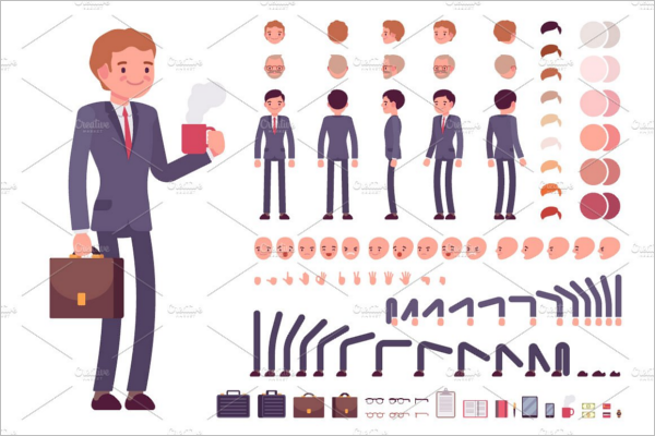 Creative Businessman Character