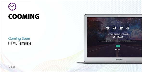 Creative Coming Soon HTML Theme