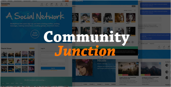 Creative Community BuddyPress Theme