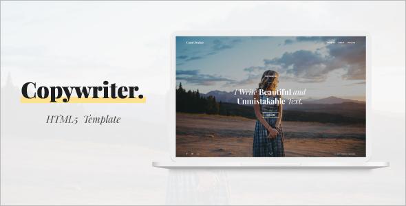 Creative Copywriter HTML5 Template