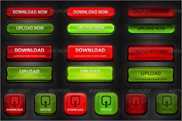 Creative Download Button Template