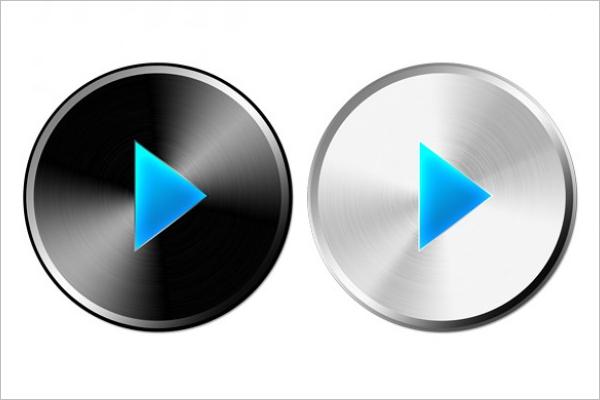 design a button template free - play button vector designs free premium templates