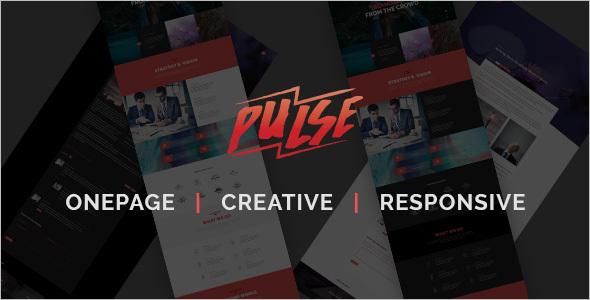 Creative Portfolio One Page Template