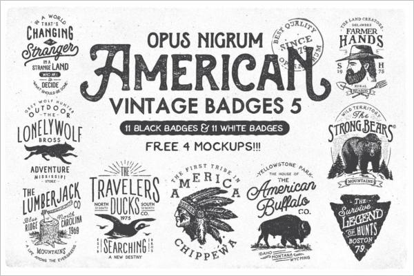 Creative Vintage Badge Template