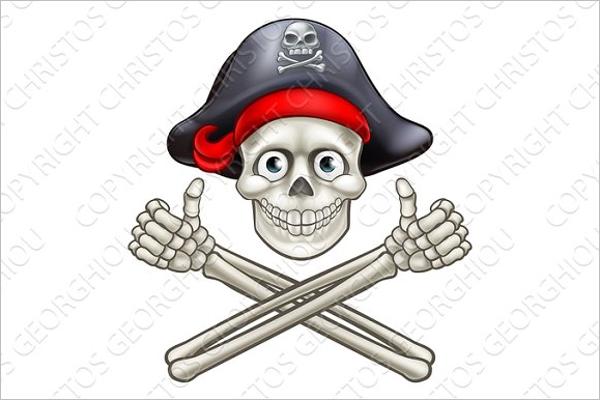 Crossbones Skull Design