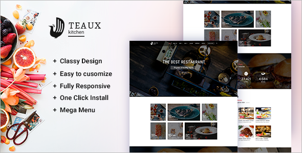 Custamizable Chef WordPress Theme