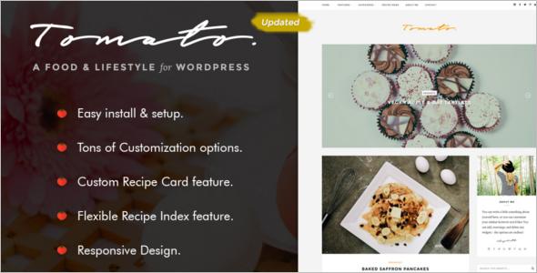 Custamizable Food WordPress Theme