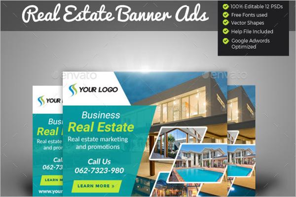 Custamizable Real Estate Banner Template