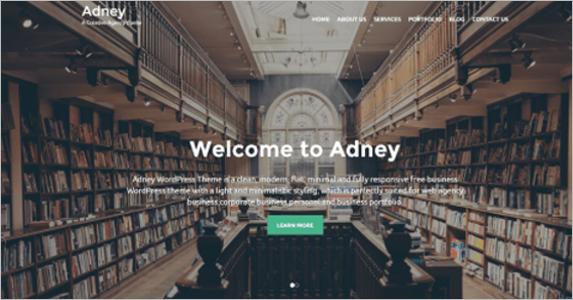 Customizable Free Landing Page Theme