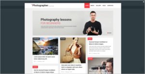 Customizable WordPress Photographer Theme