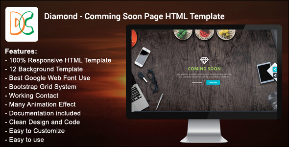 Customize HTML Coming Soon Template