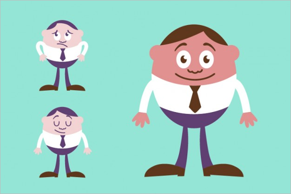 Cute Businessman Character Design