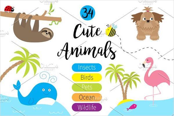 Cute Cartoon Animals Template