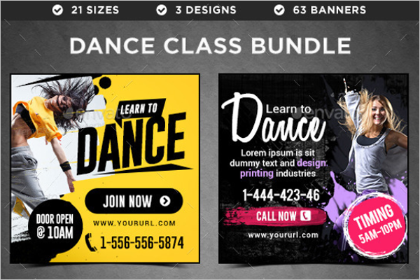 Dance Banner Bundle Template