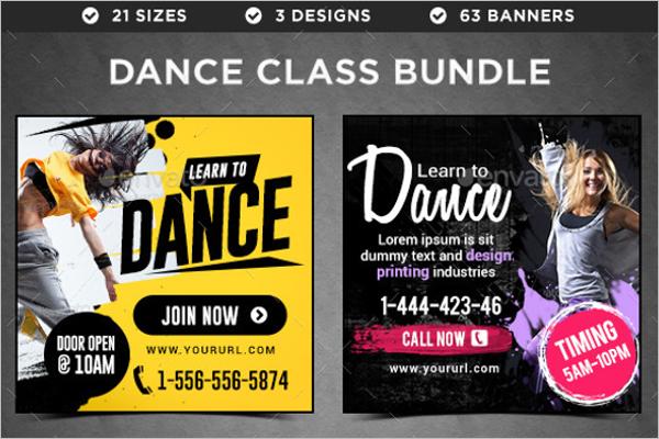 Dance Banner Bundle Template
