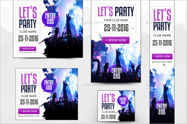 Dance Party Banner Template