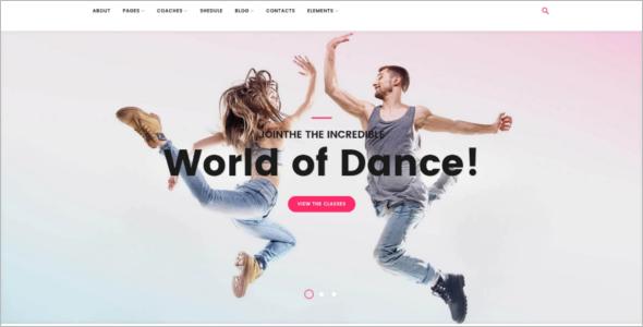 Dance School Responsive WordPress Theme