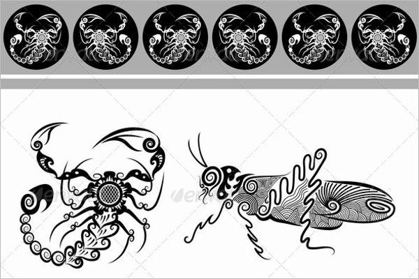 Decorative Tattoo Scorpion Designs