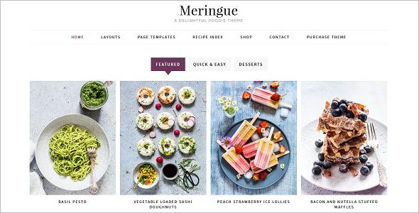 Delicious Food Recipe WordPress Theme
