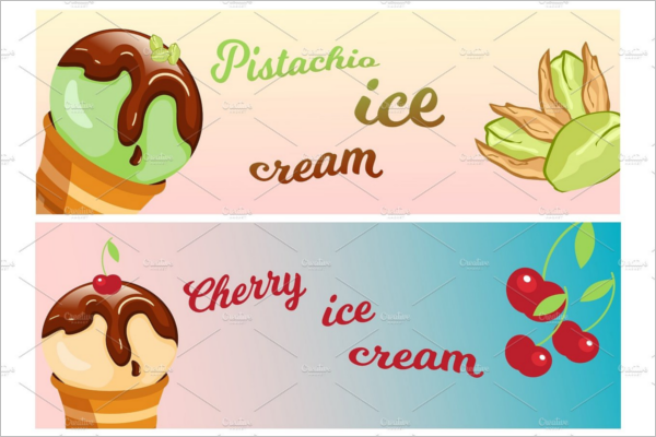 Delicious Ice Cream Banner Design